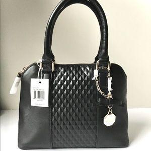 Belle Badgley Mischka black satchel bag